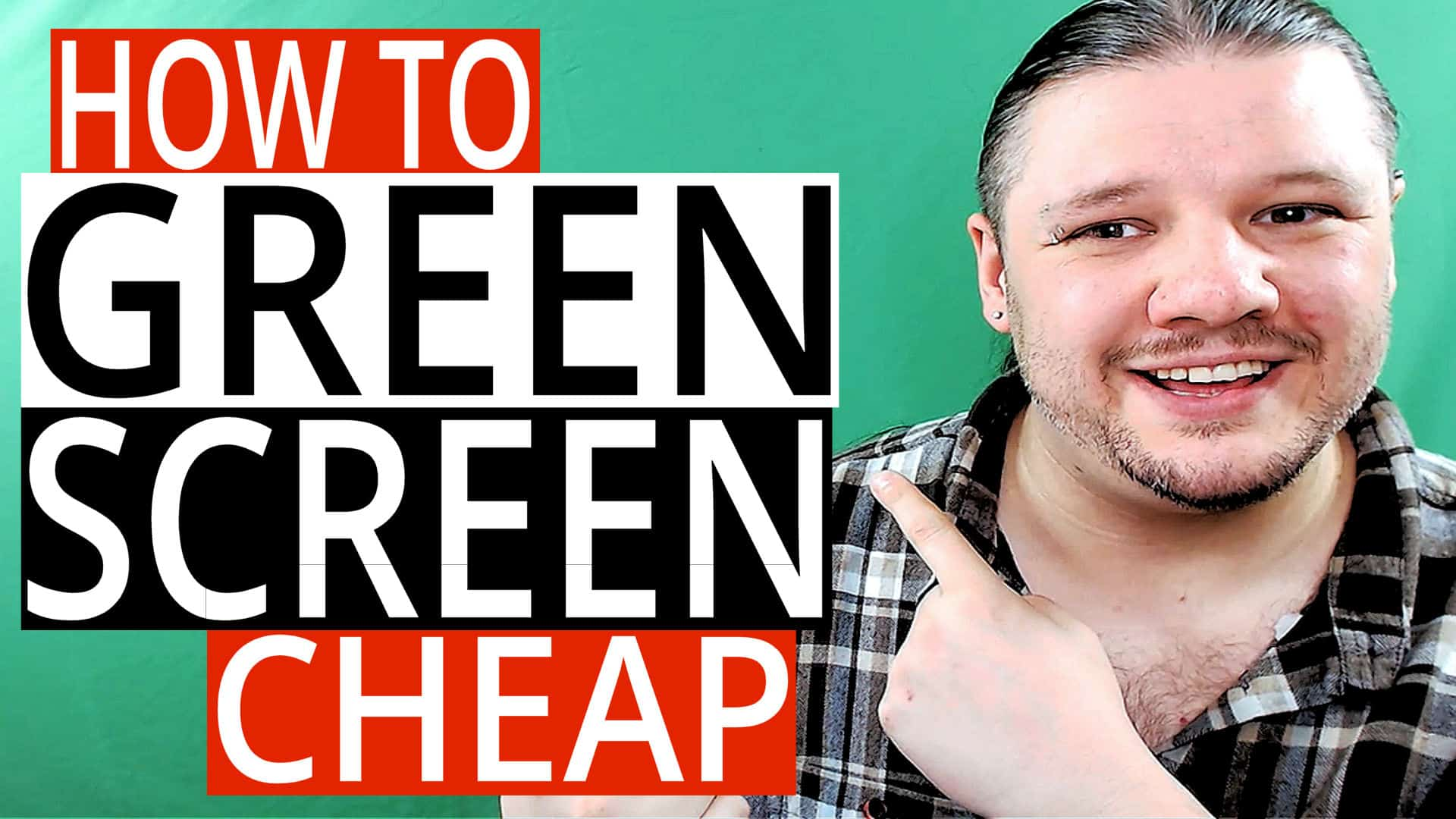 How To GREEN SCREEN On A Budget - Cheap Green Screen Videos